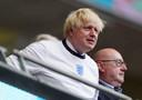 Premier Boris Johnson was aandachtig toeschouwers op Wembley.