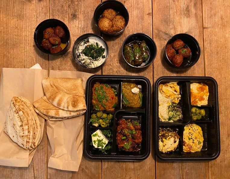 Rodja heeft voornamelijk vegetarische, zelfgemaakte mediterrane en Midden-Oosterse lekkernijen op het menu. Beeld Monique Van Loon