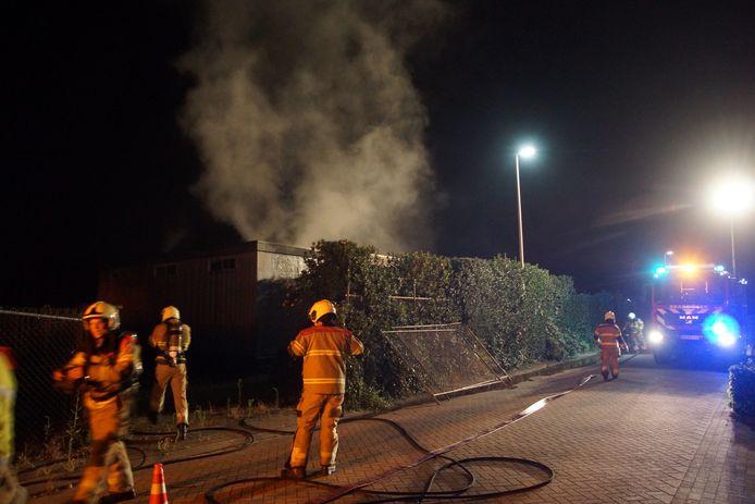 De brand woedde aan de Industrieweg in Drunen.