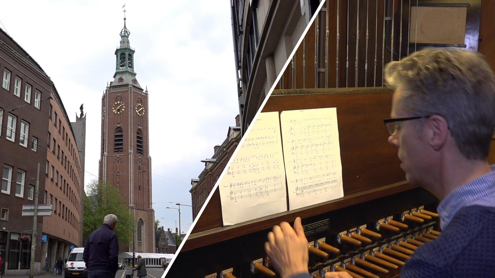 De beiaardier van de Grote Kerk in Den Haag Gijsbert Kok doet mee aan het landelijk initiatief om Radar Love te spelen.