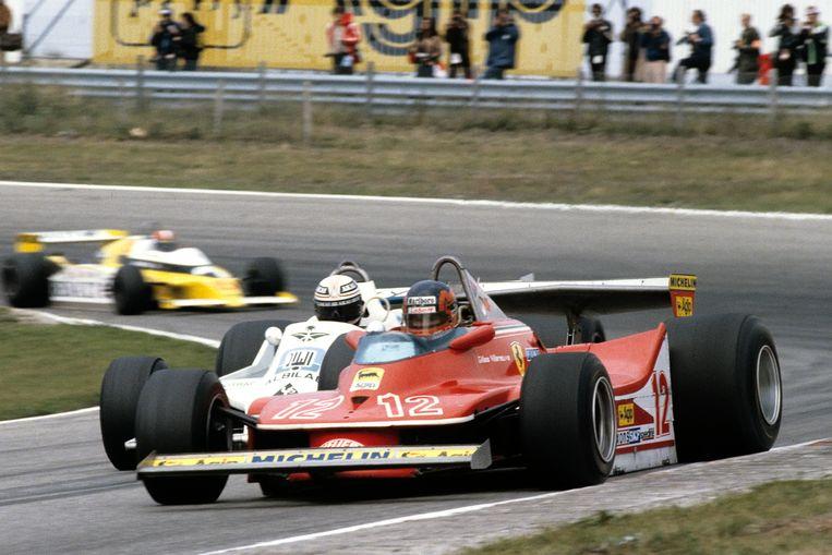 1979. Gilles Villeneuve in een Ferrari. Beeld Getty Images
