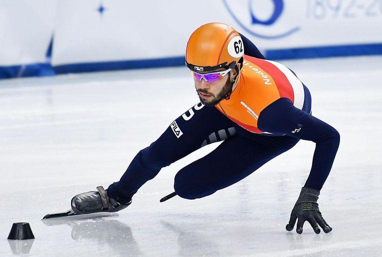 Geconcentreerde blik bij Knegt in de halve finale van de 1.500 meter op de EK in Turijn. Beeld null
