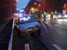 Automobilist gewond na botsing op N18 bij Groenlo