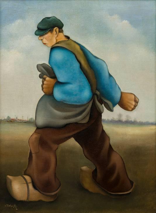 De zaaier van Sjef van Schaijk, een schilderij uit de collectie van Jan Geerts.
