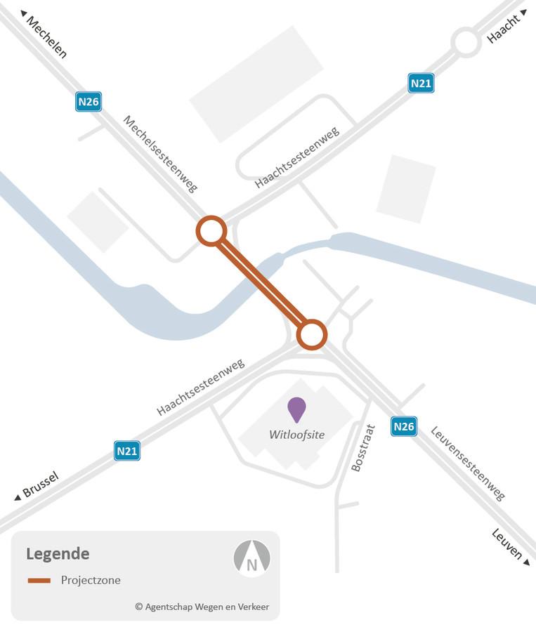 De noordelijke rotonde aan Kampenhout-Sas wordt vanaf maandag aangepakt.