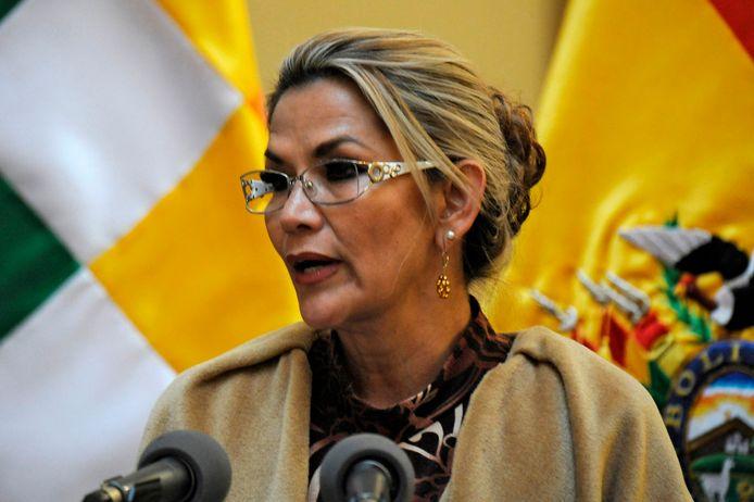 De Boliviaanse interim-president Jeanine Anez.