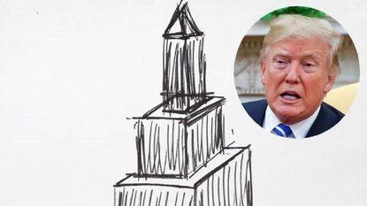 Vastgoedbons, president en nu blijkbaar ook kunstenaar: schets van Trump onder de hamer voor 16.000 dollar