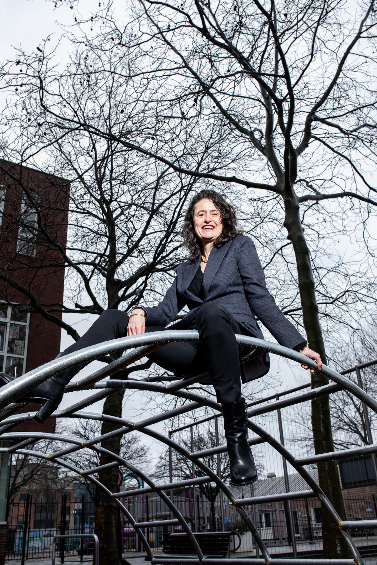 Heleen Terwijn: 'Er is nu heel veel behoefte aan extra huiswerkbegeleiding.'    Beeld Nosh Neneh