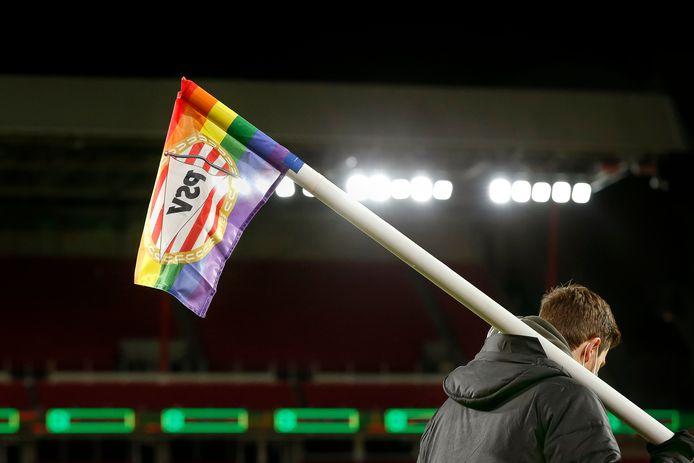 Regenboogcornervlag.