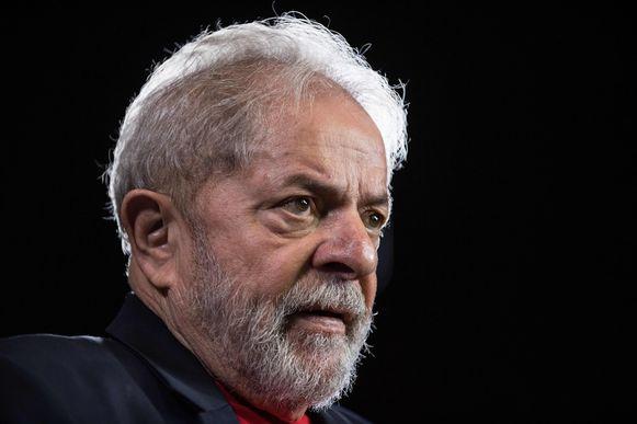 """Voormalig Braziliaans president Luiz Inacio """"Lula"""" da Silva tijdens een interview in 2018."""