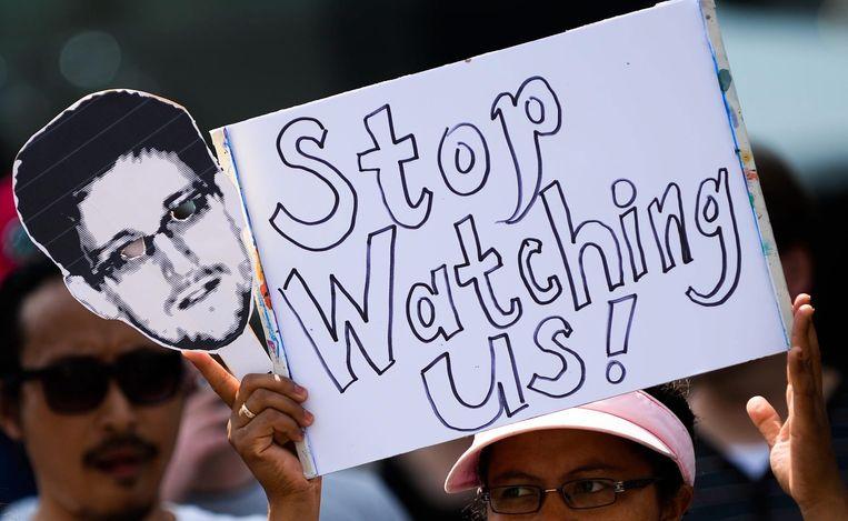 Protest tegen de NSA. Beeld epa