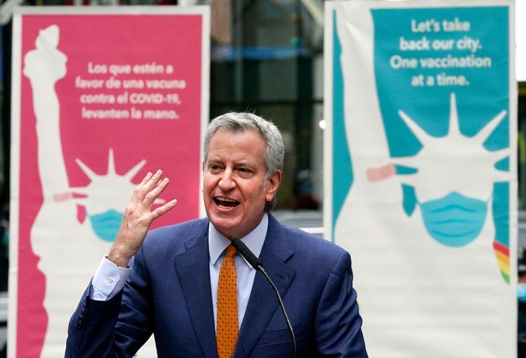Burgemeester van New York Bill de Blasio. Beeld AP