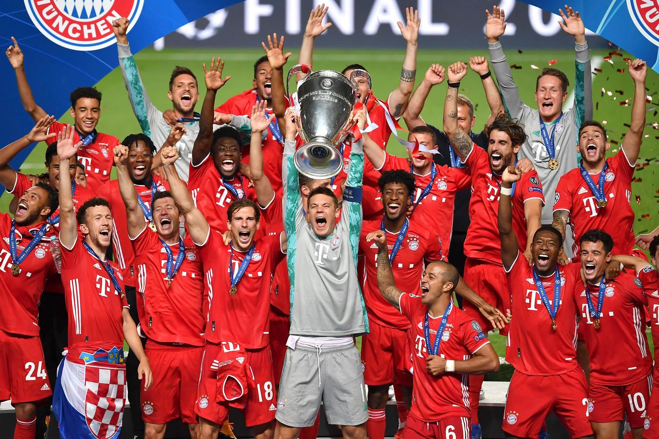 Bayern München won vorig jaar ten koste van PSG de Champions League.