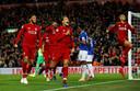 Vreugde bij de spelers van Liverpool op 2 december 2018.