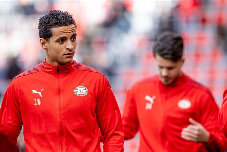 Ihattaren kon bij PSV niet door een deur met trainer Roger Schmidt. Hij vervolgt zijn voetballoopbaan nu in Italië. Beeld Pro Shots / Thomas Bakker
