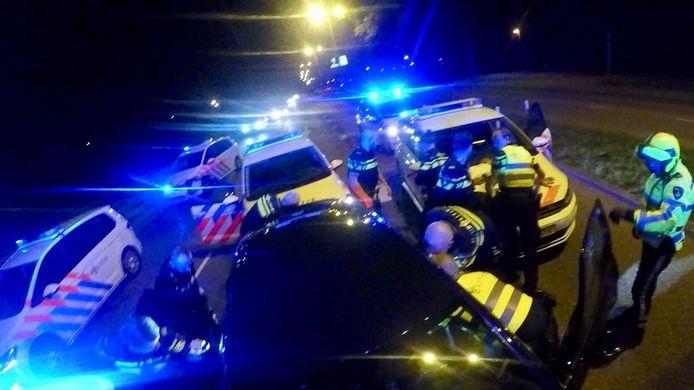 De politie wist de auto klem te rijden in Utrecht.