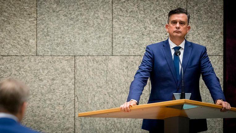 Emile Roemer (SP) tijdens een debat in de Tweede Kamer. Beeld anp