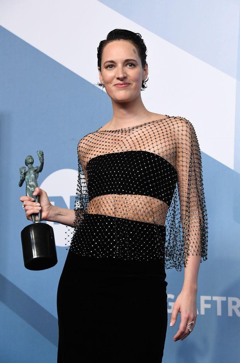 Phoebe Waller-Bridge bij de Screen Actors Guild Award in Los Angeles in 2020.  Beeld WireImage