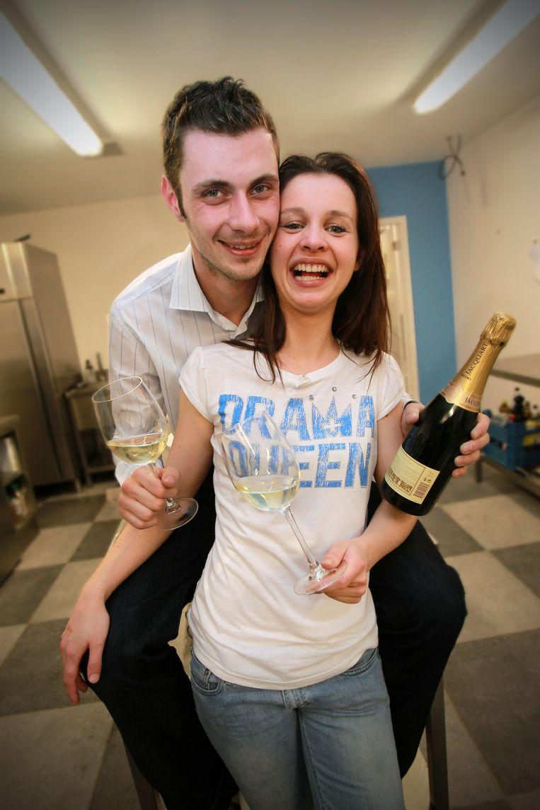 Jimmy en Lucie kunnen vieren met hun score van 13 op 20.