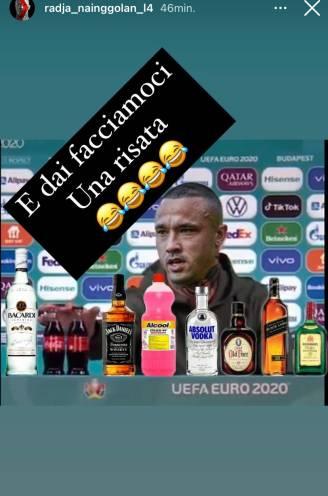 Moet er nog alcohol zijn? Nainggolan steekt op sociale media de draak met Ronaldo en Pogba