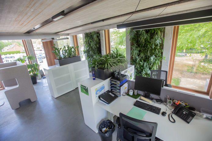 Een bureauruimte in het nieuwe gebouw.