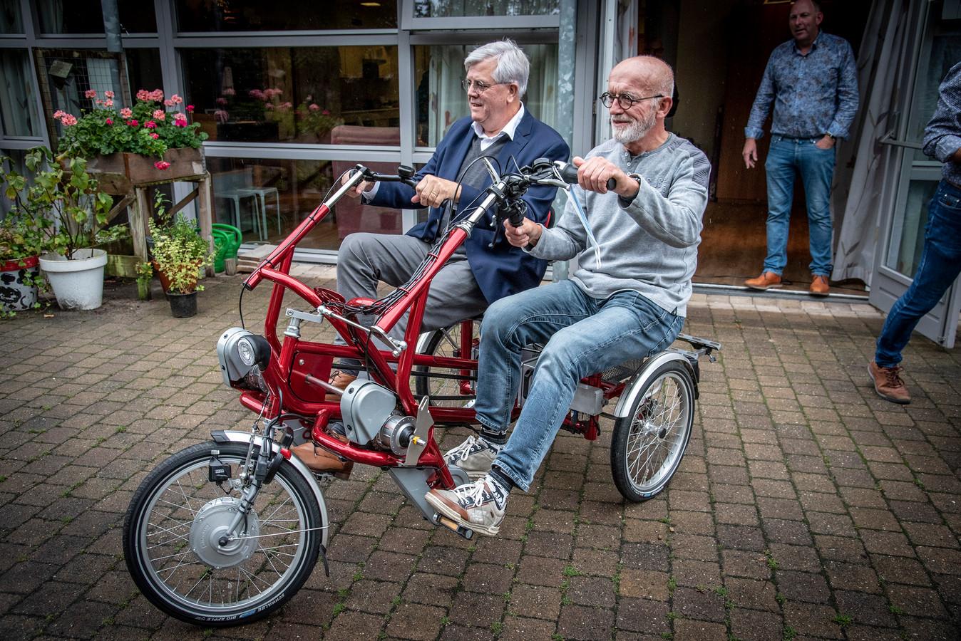 In Malden kwam er vorig jaar al een duofiets beschikbaar, het dorp Heumen krijgt er ook één.