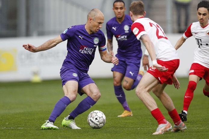 Arjen Robben in zijn laatste wedstrijd tegen FC Utrecht.