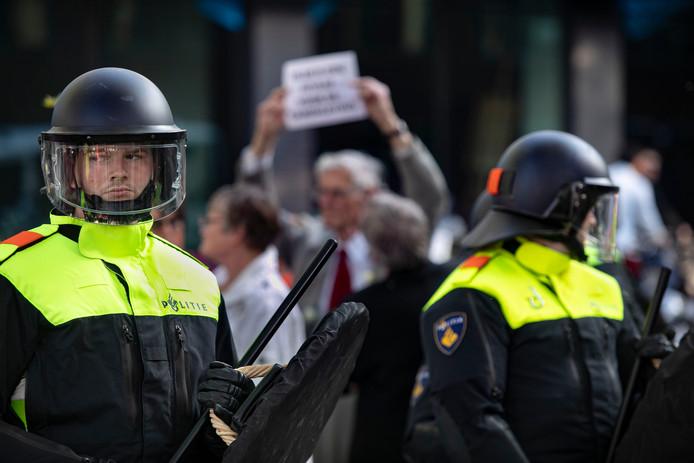 Pegida betoging in Eindhoven.