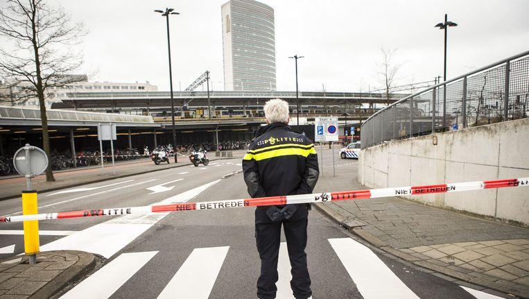 Het station is afgesloten Beeld anp