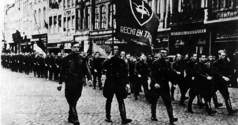 """VERDINASO. Bruno De Wever: """"Een paramilitaire organisatie die in 1934 werd opgedoekt, op basis van de wet die private milities verbiedt."""" Beeld RV"""