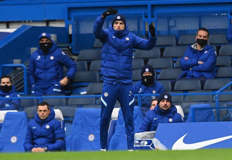 Chelsea-manager Thomas Tuchel in Stamford Bridge. Beeld Photo News