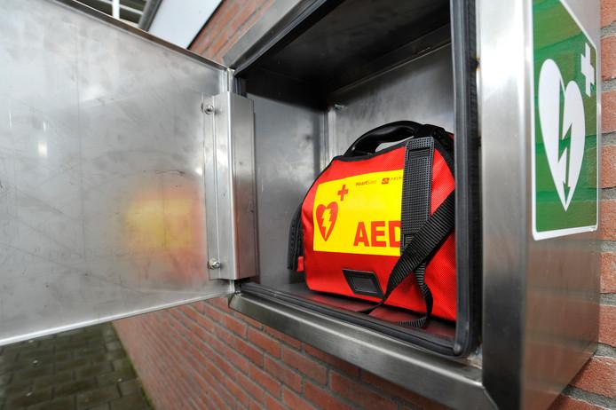 Een voorbeeld van een AED-buitenkast.
