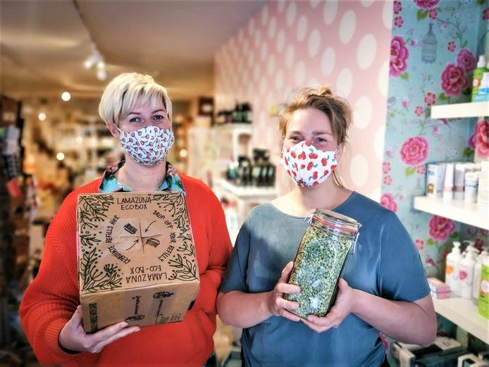 Babs Vandervoort en Iris Verellen bundelen in hun winkel de krachten.