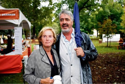 Nina Storms met haar man Pieter.