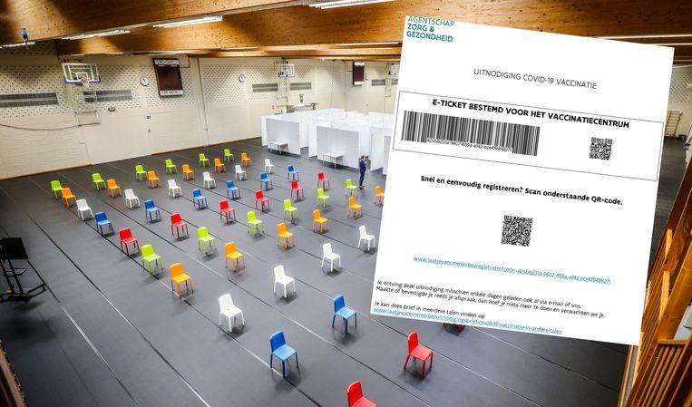 Binnenkort gaat ook het vaccinatiecentrum in Oostkamp open. Wie z'n vaccin komt halen, zal zijn of haar oproepingsbrief moeten meenemen. Beeld Benny Proot