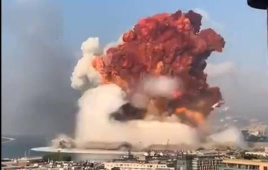 De explosie was enorm.