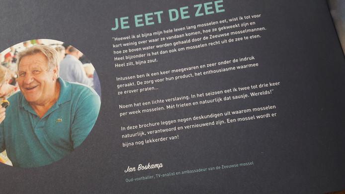 Jan Boskamp schreef het voorwoord voor de brochure van de mosselsector.