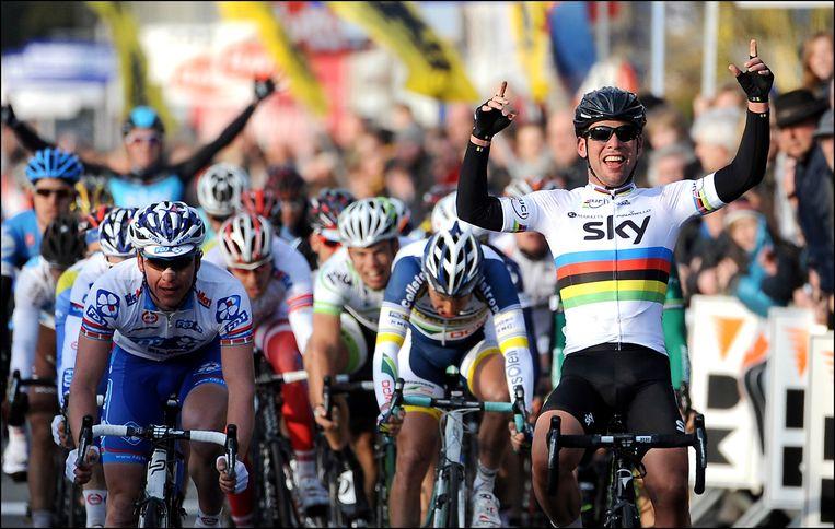 In 2012 eindigde Kuurne-Brussel-Kuurne ook in een sprint. Cavendish werd toen eerste. Beeld PHOTO_NEWS