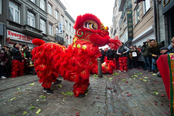 De traditionele rode draak.