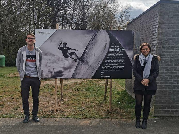 Schepen Brent Wouters en burgemeester Marianne Verhaert