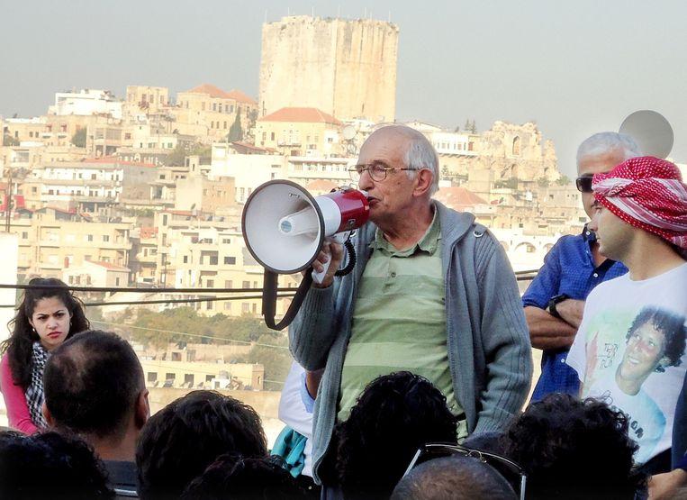 Pater Frans van der Lugt in Homs. Beeld anp