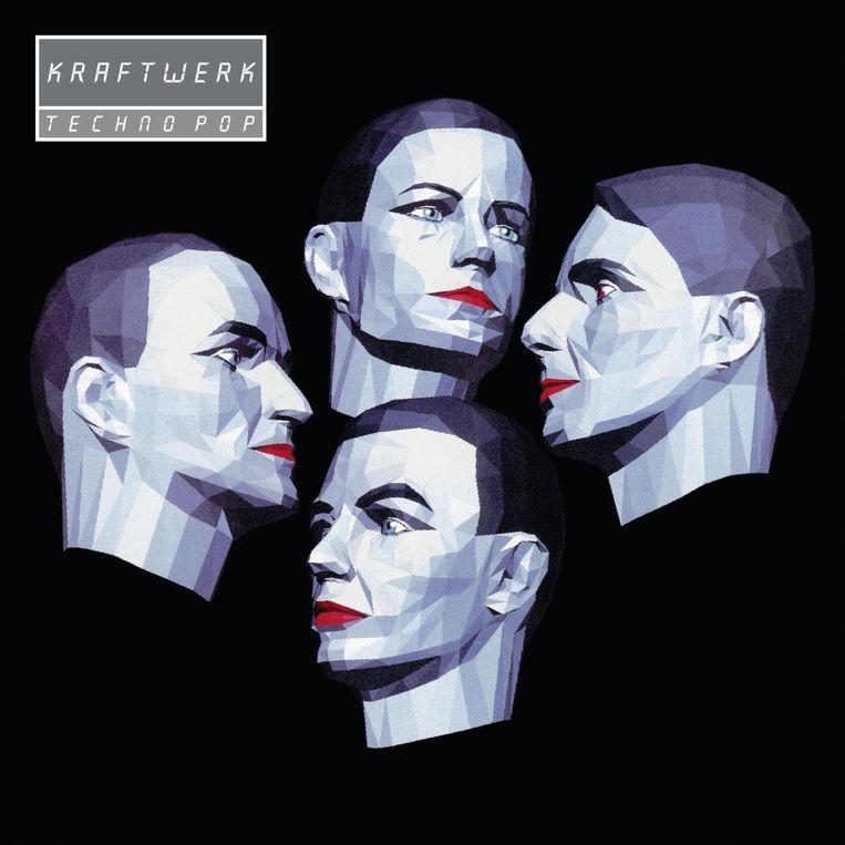 Kraftwerk - 'Electric Café' - hoes van de heruitgave, onder de titel 'Techno Pop'. Beeld RV