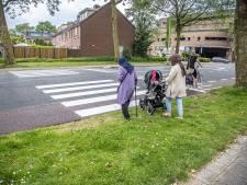 Foutje! Zebrapad in Zwolle komt niet uit op de stoep, maar op het gras: 'Dit is onhandig'
