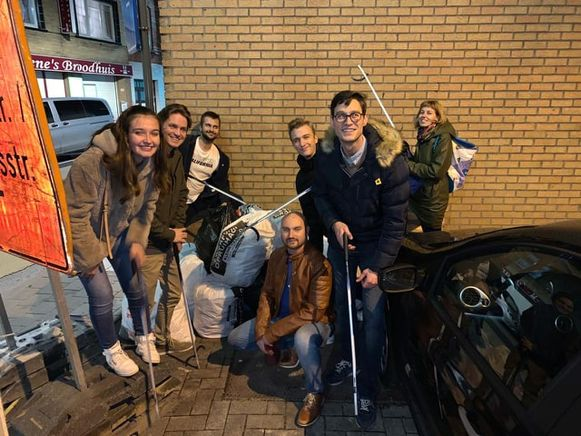 Opruimactie Jong Vld Gent op de Dendermondsesteenweg