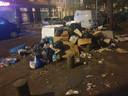 De vuilniszakken worden vaak opengescheurd door meeuwen, waardoor er veel troep op straat komt te liggen.