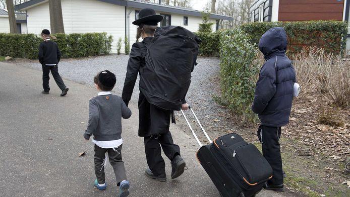 De ongeveer 250 volgelingen van 'seksrabbijn' Eliezer Berland vertrokken eerder van camping Hommelheide in het Limburgse dorp Susteren