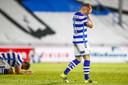 Ralf Seuntjens en Melvin Platje balen na het mislopen van directe promotie naar de eredvisie.