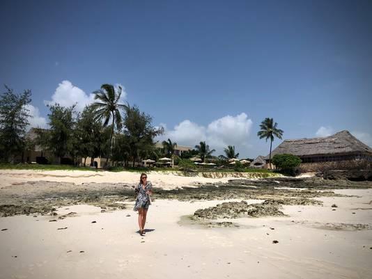 Chantal op Zanzibar.
