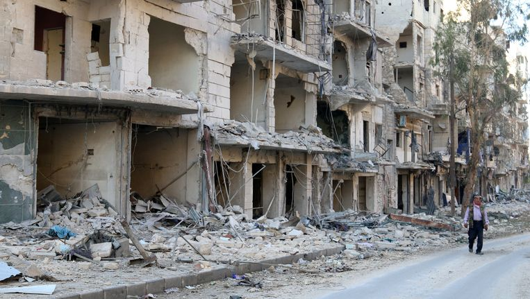 Straatbeeld van Aleppo. Beeld REUTERS