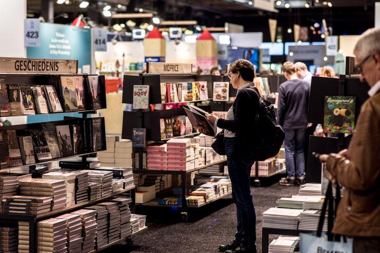 De Boekenbeurs in 2019. Normaal trekt die jaarlijks zo'n 120.000 bezoekers. Beeld Tine Schoemaker